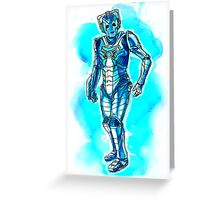 Blue Cyberman Greeting Card