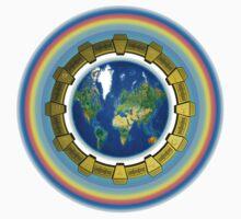 Earth Ascension Stargate T-Shirt by Martin Rosenberger