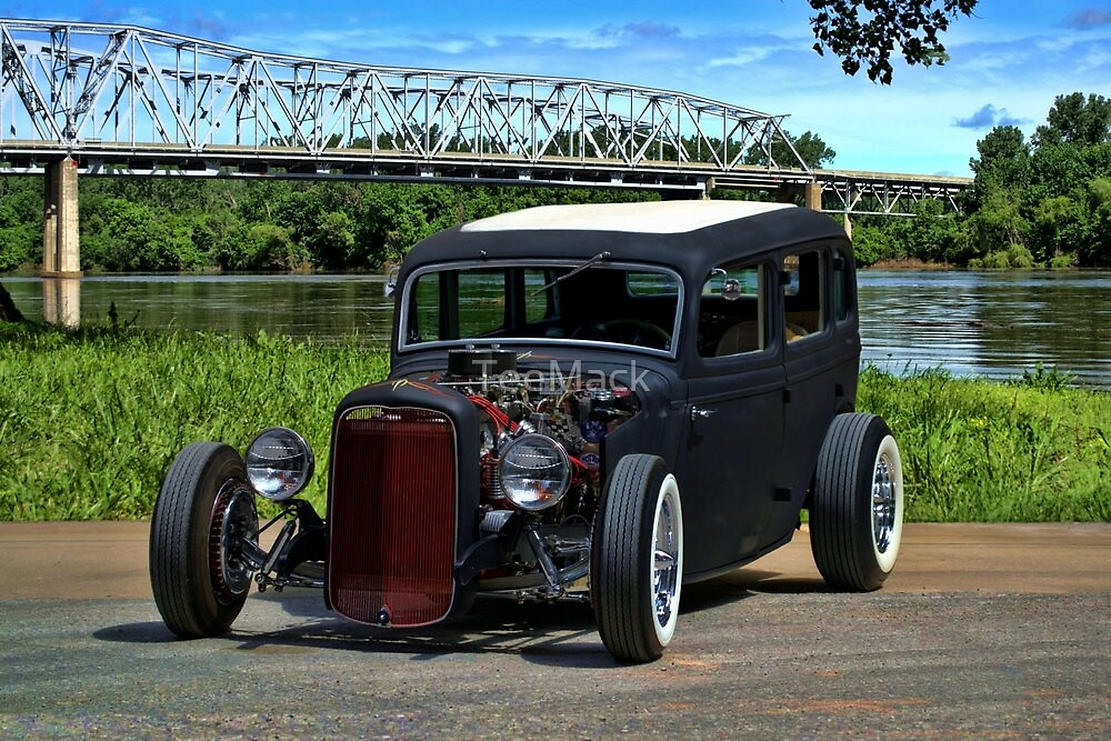1934 ford 4 door sedan hot rod by teemack redbubble for 1934 ford four door
