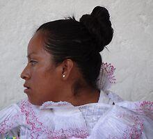 portrait of an indian lady - retrato de una señora indigena by Bernhard Matejka