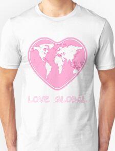 Love Global T-Shirt Emblem Pink Unisex T-Shirt