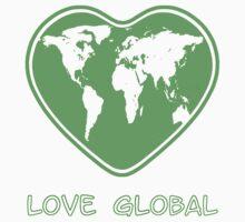 Love Global T-Shirt Emblem Green Kids Clothes
