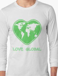 Love Global T-Shirt Emblem Green Long Sleeve T-Shirt