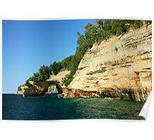Grand Portal--Pictured Rocks Lake Shore Poster