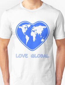 Love Global T-Shirt Emblem Blue Unisex T-Shirt
