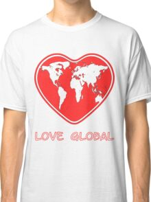 Love Global T-Shirt Emblem Red Classic T-Shirt