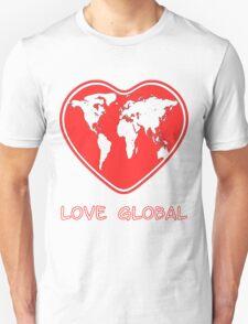 Love Global T-Shirt Emblem Red Unisex T-Shirt