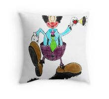 Clown Town Throw Pillow