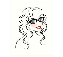 Beautiful woman in glasses Art Print