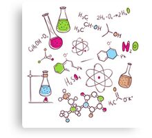 Hand draw chemistry background Canvas Print