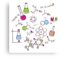 Hand draw chemistry background Canvas Print