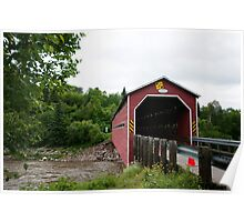 Covered bridge in Québec Poster