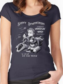 Shiny Symphonies: Whistlin' Wash Women's Fitted Scoop T-Shirt