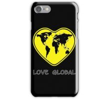 Love Global iPhone Case Black Yellow iPhone Case/Skin