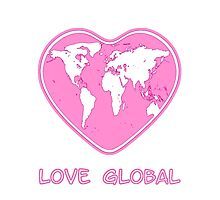 Love Global iPhone Case Pink by Martin Rosenberger