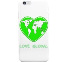 Love Global iPhone Case Green iPhone Case/Skin