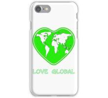 Love Global iPhone Case Green iPhone Case/Skin