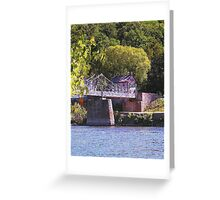 Walking Bridge to Lumberville Greeting Card
