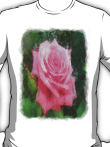 Pink Roses in Anzures 4 Sketchy T-Shirt