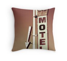 Ritz Motel Throw Pillow