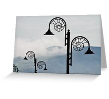 Nautilus Lamps ~ Lyme Regis Greeting Card