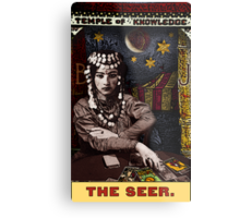 The Seer: Circus Tarot prints, posters and cards by Duck Soup Productions Metal Print