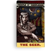 The Seer: Circus Tarot prints, posters and cards by Duck Soup Productions Canvas Print
