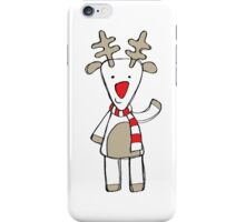 Red Nose Christmas Deer iPhone Case/Skin