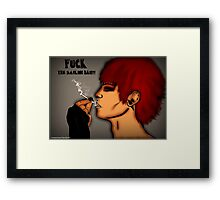 Fuck The Smoking Ban! Framed Print
