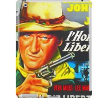 Belgian poster of The Man Who Shot Liberty Valance iPad Case/Skin
