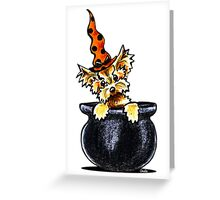 Yorkie Something Brewing Greeting Card