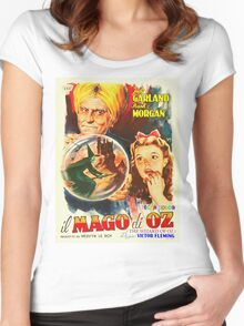 Italian poster of The Wizard of Oz Women's Fitted Scoop T-Shirt