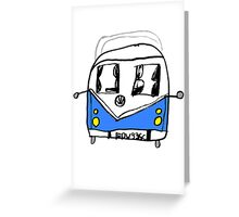 VW Camper Kids Greeting Card