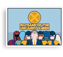 Uncanny X-Men 50th Anniversary - Full Cast Canvas Print