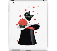 cat holding a flowers iPad Case/Skin