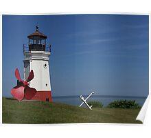 Vermilion Lighthouse Poster
