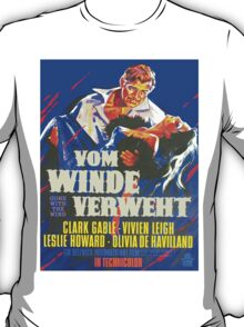 German poster of Gone with the Wind T-Shirt