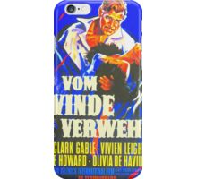 German poster of Gone with the Wind iPhone Case/Skin