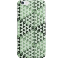 Geometric Cubes - Bold Green iPhone Case/Skin