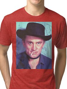 Kirk Douglas in Man Without a Star Tri-blend T-Shirt