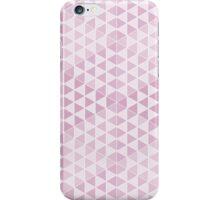Geometric Cubes - Soft Pink iPhone Case/Skin