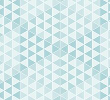 Geometric Cubes - Soft Blue by Aeleina