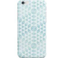 Geometric Cubes - Soft Blue iPhone Case/Skin