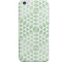 Geometric Cubes - Soft Green iPhone Case/Skin