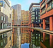 Paddington Basin, London. by Tim Constable