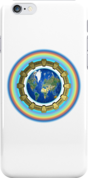 Earth Ascension Stargate iPhone Case by Martin Rosenberger