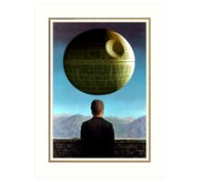 Death Star Magritte Art Print