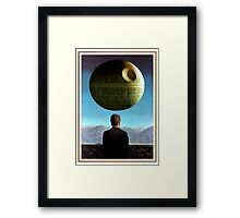 Death Star Magritte Framed Print