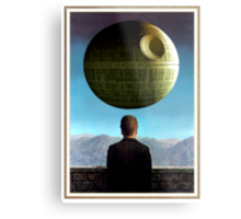 Death Star Magritte Metal Print