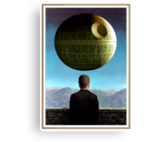 Death Star Magritte Canvas Print